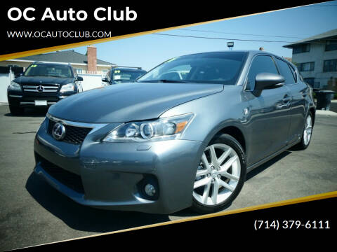 2015 Lexus CT 200h for sale at OC Auto Club in Midway City CA