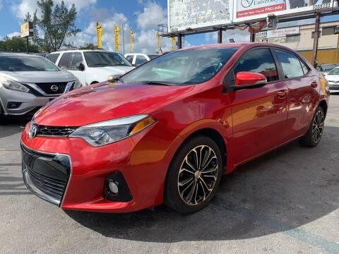 2015 Toyota Corolla for sale at AUTO ALLIANCE LLC in Miami FL