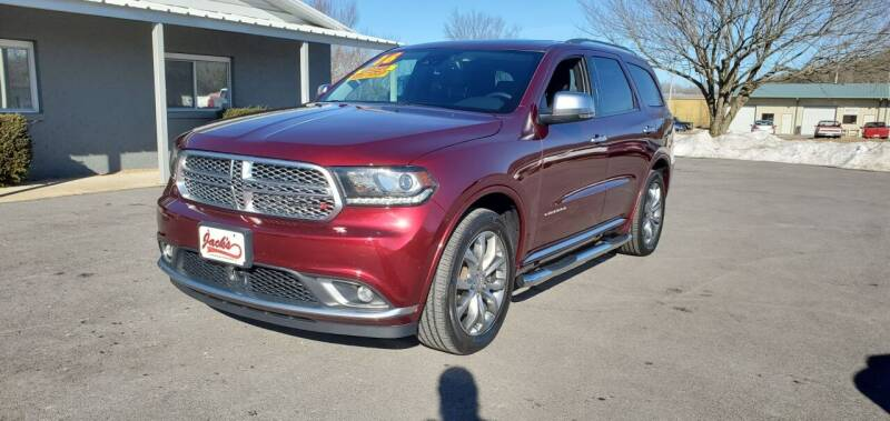2016 Dodge Durango for sale at Jacks Auto Sales in Mountain Home AR