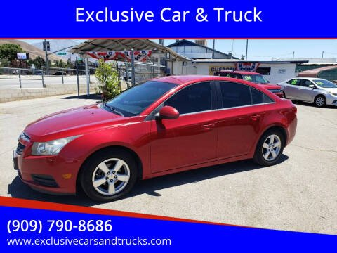 2014 Chevrolet Cruze for sale at Exclusive Car & Truck in Yucaipa CA