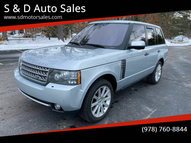 2010 Land Rover Range Rover for sale at S & D Auto Sales in Maynard MA