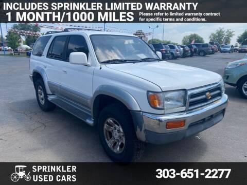 1998 Toyota 4Runner for sale at Sprinkler Used Cars in Longmont CO