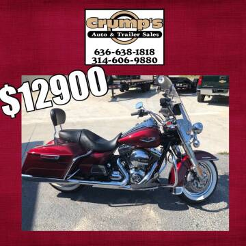 2016 Harley Davidson Road King for sale at CRUMP'S AUTO & TRAILER SALES in Crystal City MO