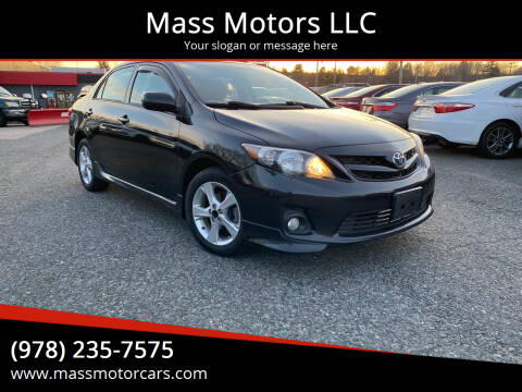 2012 Toyota Corolla for sale at Mass Motors LLC in Worcester MA
