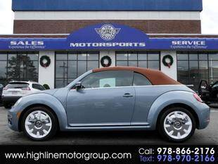 2019 Volkswagen Beetle Convertible for sale at Highline Group Motorsports in Lowell MA