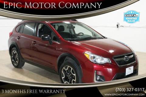 2017 Subaru Crosstrek for sale at Epic Motor Company in Chantilly VA