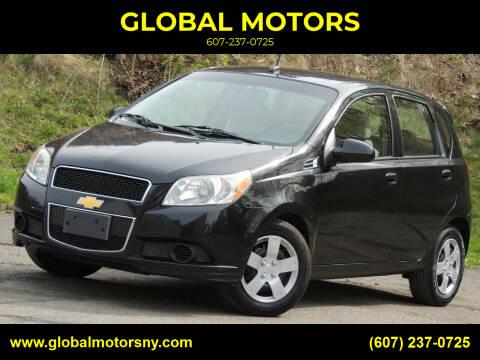 2011 Chevrolet Aveo for sale at GLOBAL MOTORS in Binghamton NY