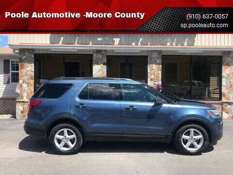 2018 Ford Explorer for sale at Poole Automotive in Laurinburg NC