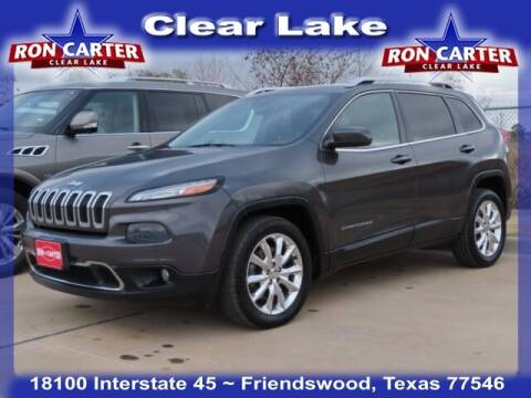 2014 Jeep Cherokee for sale at Ron Carter  Clear Lake Used Cars in Houston TX