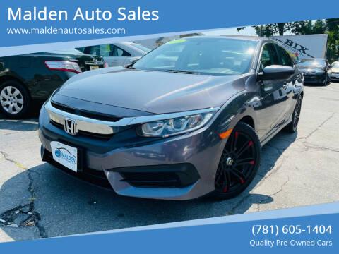 2016 Honda Civic for sale at Malden Auto Sales in Malden MA