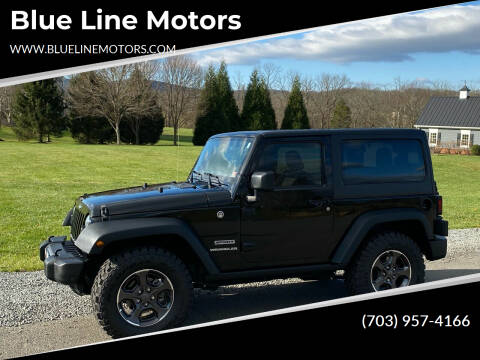 2016 Jeep Wrangler for sale at Blue Line Motors in Winchester VA