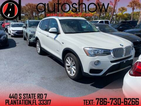 2016 BMW X3 for sale at AUTOSHOW SALES & SERVICE in Plantation FL