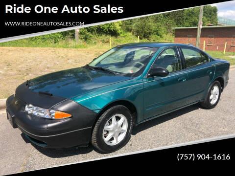 1999 Oldsmobile Alero for sale at Ride One Auto Sales in Norfolk VA