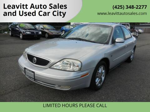 2001 Mercury Sable for sale at Leavitt Auto Sales and Used Car City in Everett WA