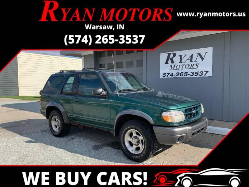 2000 Ford Explorer for sale at Ryan Motors LLC in Warsaw IN