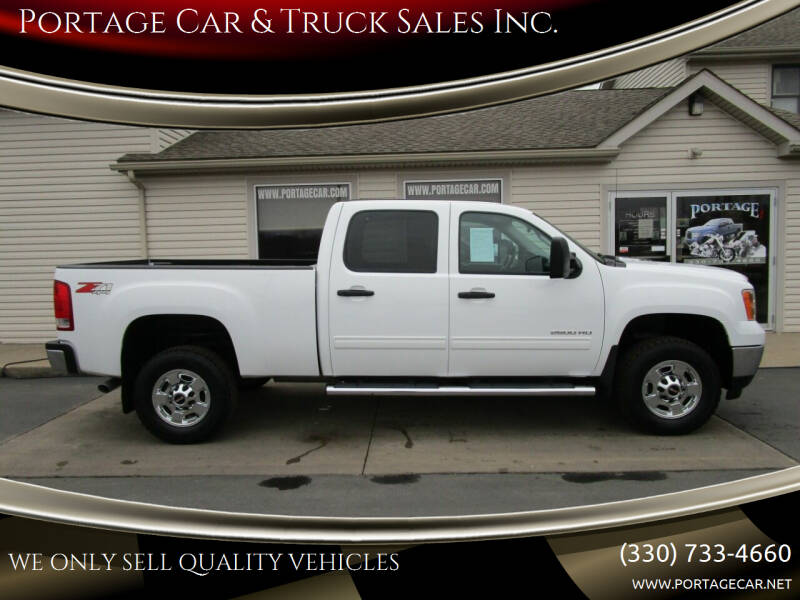 2012 GMC Sierra 2500HD for sale at Portage Car & Truck Sales Inc. in Akron OH