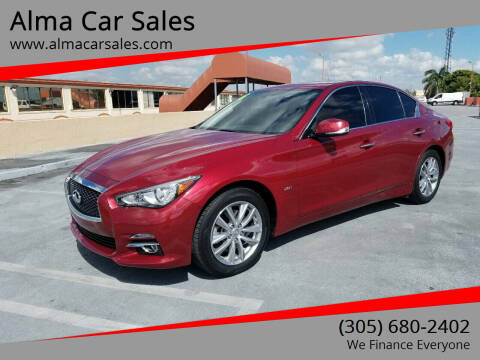 2016 Infiniti Q50 for sale at Alma Car Sales in Miami FL