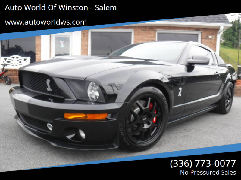 2008 Ford Shelby GT500 for sale at Auto World Of Winston - Salem in Winston Salem NC