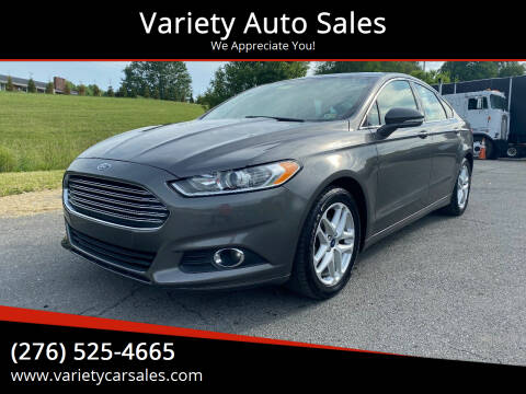 2014 Ford Fusion for sale at Variety Auto Sales in Abingdon VA