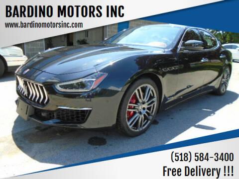 2018 Maserati Ghibli for sale at BARDINO MOTORS INC in Saratoga Springs NY