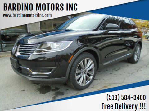 2017 Lincoln MKX for sale at BARDINO MOTORS INC in Saratoga Springs NY