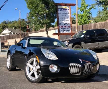2009 Pontiac Solstice for sale at Sierra Auto Sales Inc in Auburn CA