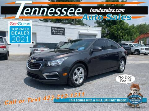 2015 Chevrolet Cruze for sale at Tennessee Auto Sales in Elizabethton TN