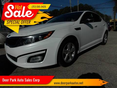 2014 Kia Optima for sale at Deer Park Auto Sales Corp in Newport News VA