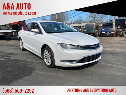 2015 Chrysler 200 for sale at A&A AUTO in Fairhaven MA