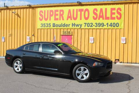 2012 Dodge Charger for sale at Super Auto Sales in Las Vegas NV