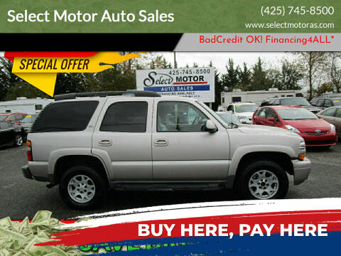 2006 Chevrolet Tahoe for sale at Select Motor Auto Sales in Lynnwood WA