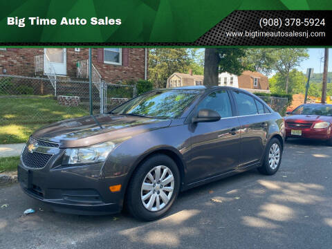 2011 Chevrolet Cruze for sale at Big Time Auto Sales in Vauxhall NJ