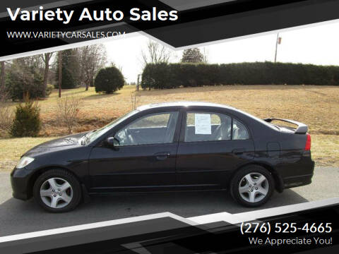 2005 Honda Civic for sale at Variety Auto Sales in Abingdon VA
