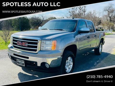 2013 GMC Sierra 1500 for sale at SPOTLESS AUTO LLC in San Antonio TX