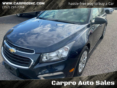 2016 Chevrolet Cruze Limited for sale at Carpro Auto Sales in Chesapeake VA