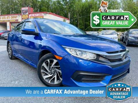 2016 Honda Civic for sale at High Rated Auto Company in Abingdon MD