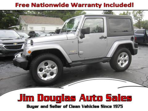 2014 Jeep Wrangler for sale at Jim Douglas Auto Sales in Pontiac MI