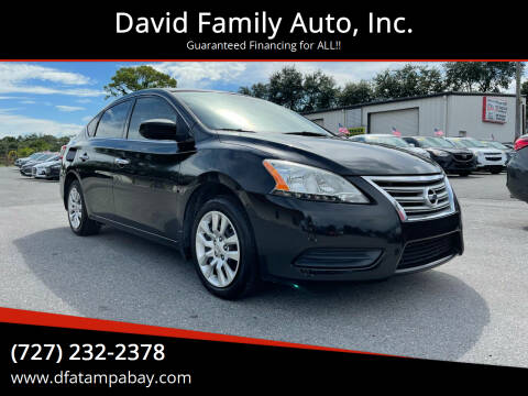 2014 Nissan Sentra for sale at David Family Auto, Inc. in New Port Richey FL