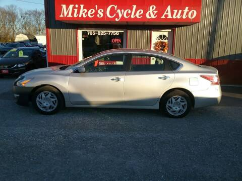 2015 Nissan Altima for sale at MIKE'S CYCLE & AUTO in Connersville IN