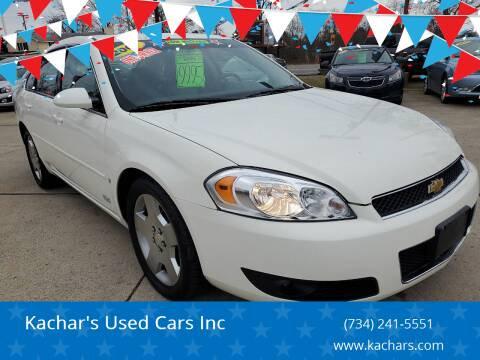 2007 Chevrolet Impala for sale at Kachar's Used Cars Inc in Monroe MI