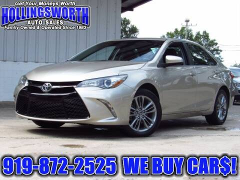 2017 Toyota Camry for sale at Hollingsworth Auto Sales in Raleigh NC