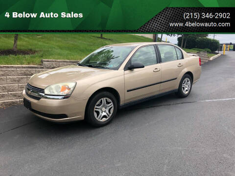 2004 Chevrolet Malibu for sale at 4 Below Auto Sales in Willow Grove PA