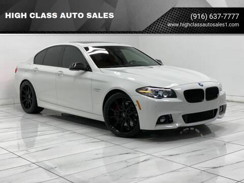 2016 BMW 5 Series for sale at HIGH CLASS AUTO SALES in Rancho Cordova CA