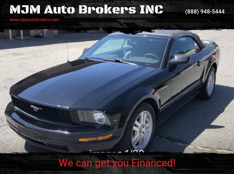2008 Ford Mustang for sale at MJM Auto Brokers INC in Gloucester MA