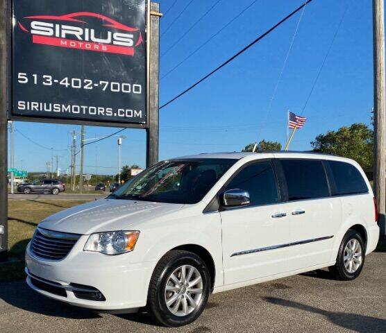 2015 Chrysler Town and Country for sale at SIRIUS MOTORS INC in Monroe OH