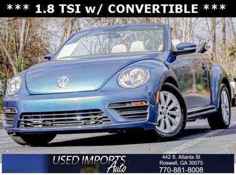 2017 Volkswagen Beetle Convertible for sale at Used Imports Auto in Roswell GA