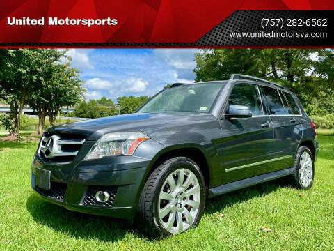 2010 Mercedes-Benz GLK for sale at United Motorsports in Virginia Beach VA