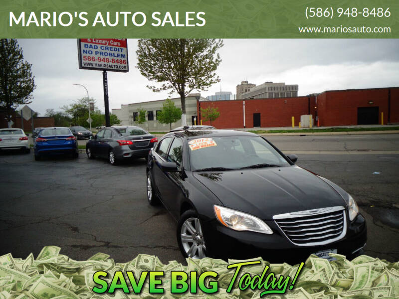 2012 Chrysler 200 for sale at MARIO'S AUTO SALES in Mount Clemens MI