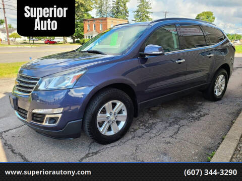 2014 Chevrolet Traverse for sale at Superior Auto in Cortland NY