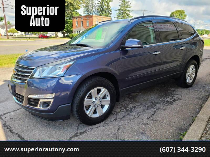 2014 Chevrolet Traverse for sale at Superior Auto in Cortland NY